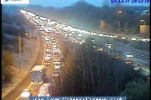 Delays are expected on the M61, where it meets the M65, until around 9.45am. Pic: Highways England