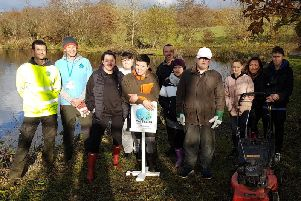 Children from Rumworth School in Bolton with their teachers, plus Ian Loftus and Warren Kozera (of LifeScape) and Dan Hames (founder of This is CLaSS)