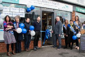 Volunteers at the opening of the RSPCA shop in Penwortham.