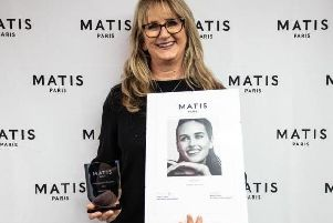 Debbie pictured with her award