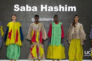 UCLan graduate Saba Hashim's collection, to be featured at the university's modest fashion show.