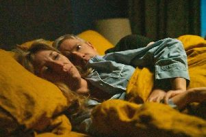 Daisy Haggard and Martin Freeman star as harassed parents in Breeders