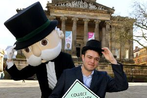 Mr Monopoly and George Shrimpton announce that Preston is to get its own version of Monopoly