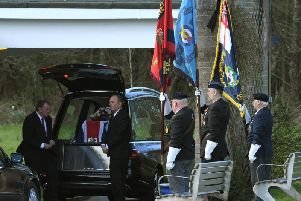 Bob is given a military send-off at his funeral in Preston.