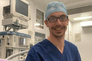 Dad-of-three Liam Bass, an operating department practitioner, has spent the past seven months assisting with vital treatments like eye cataract surgeries at Royal Preston Hospital.