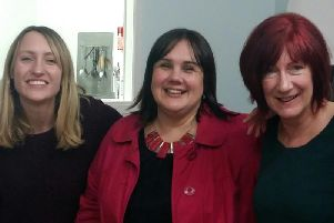 Rebecca Barnett (support worker), Stela Stansfield (manager) and Lorna Woods (support worker), of Leyland homelessness charity SLEAP.