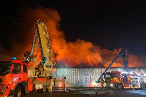 Firefighters from Lancashire and Greater Manchestertackleda large scale fireat a commercial premises in Adlington. (Credit: Lancashire Fire and Rescue Service)