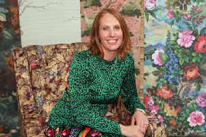 Nina Marika Tarnowski, who runs Woodchip and Magnolia with her husband Paul from their home in Edgworth, has taken inspiration from Rivington Oriental Gardens for her new wallpaper collection.