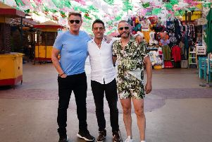 Gordon Ramsay, Gino D'Acampo and Fed Sirieix began their American Road Trip in Tijuana, Mexico