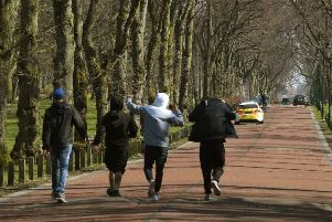 Police patrol Moor Park in Preston - but still some people just don't get it.