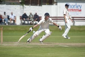 Danny Lamb in action for Leyland