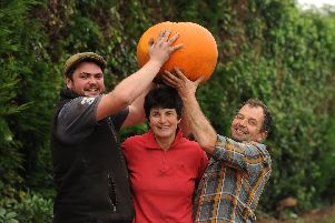 The Leyland Pumpking! Anthony Slater and his mum Elaine and her brother David