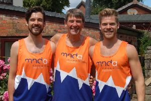 Clive Barker with his sons Tom and Adam are training for the London Marathon