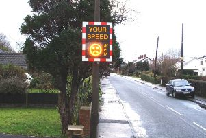 Councillors say there is no evidence that this type of sign cuts speeding