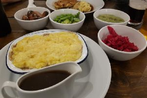 Shepherds Pie with all the sides (Photos: JPIMedia)