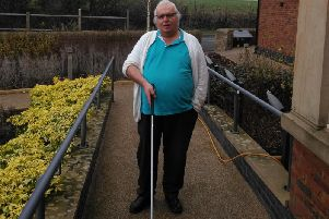 Partially sighted Donald Gaskell was attacked as he walked along the street with his cane