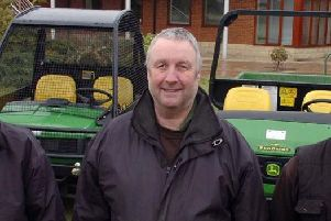 Greenkeeper Charlie Bevan, pictured at the club in 2012