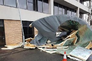 Damage to county hall's register office
