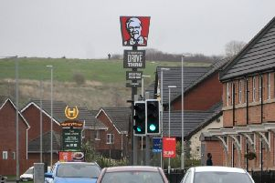The 10 metre tall Colonel totem before it was taken down