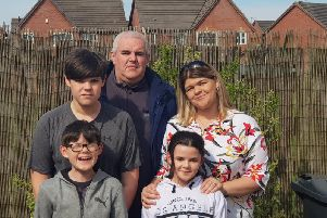 Stephen Carr with his wife Alisa, and three children, Matthew, James and Charlotte. All three children have epilepsy