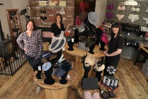 Justine Lenehan, Claire Martland and Lucy Smith converted a pig barn into a shop selling hats and lingerie at Hattie Smalls in Bispham Green