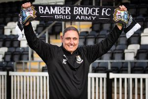 Joey Collins is the new manager of Bamber Bridge''Photo: Ruth Hornby