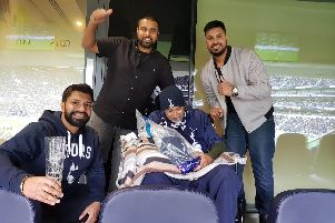 Sadagar gets the VIP treatment with family at the new Tottenham Stadium.