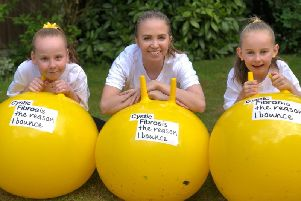 Macy Helm, Lucy Baxter and Darcy Helm are organising Bounce for Baxter for Cystic Fibrosis Trust