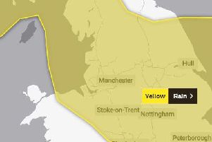 The Met Office has issued a yellow weather warning for Lancashire with heavy rain predicted on Sunday and isolated thunderstorms in some areas.