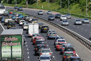 The M6 is busy with Bank Holiday daytrippers