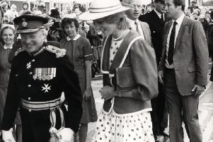 Princess Diana on her visit to Lancashire to open the Royal Preston Hospital