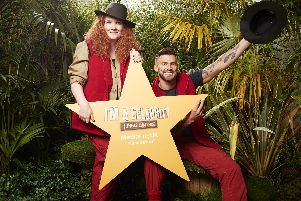 Former Im A Celebrity Get Me Out Of Here! campmates, Jake Quickenden and Jennie McAlpine break ground at The Lowry's new The Watergardens development in MediaCityUK, Manchester