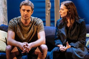 Oliver Farnworth and Samanth Womack in Girl on the Train