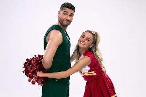Louis Smith and Amber Davies in Bring it On the musical coming to Blackpool Grand Theatre