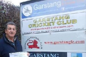 Charlie Collinson pictured outside Garstang Sports and Social Club