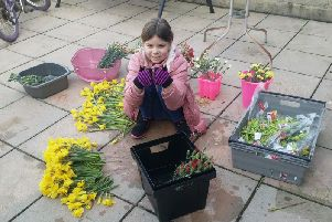 Mia Donohue spent three days during lock-down arranging and delivering colourful flowers to her neighbours.