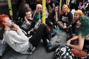 Punk fans enjoying themselves at this years Rebellion Festival
