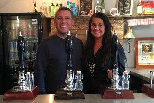 Nickie and Duncan Crosbie at Longridge's  Tap & Vent, who are now expanding to Goosnargh.