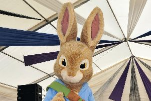 Peter Rabbit at Blackpool Children Party on the Prom