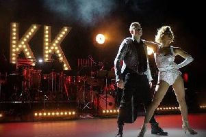 Kevin and Karen Clifton during their stage show