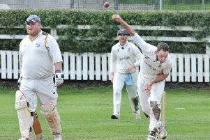 Ian Simpson sends down a delivery as Longridge got the better of South Shore on Saturday