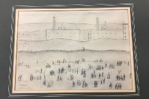 Laurence Stephen Lowry's Lancashire Mill Landscape will be on sale in Clitheroe next Wednesday. (s)
