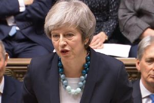 Prime Minister Theresa May, who is facing a leadership vote.