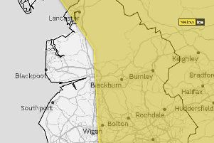 A yellow warning has been issued as ice is expected to form on some surfaces overnight into Tuesday morning across Lancashire.