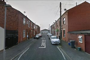 Landseer Street where a woman said she was grabbed by a man