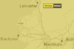 The yellow weather warning for strong winds begins at 10pm on Wednesday, February 6 until 6pm on Saturday, February 9.