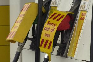 Petrol pumps run dry at service stations from Lancaster to Scotland