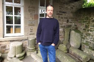 Curator Patrick Tostevin outside the Ribchester Roman Museum
