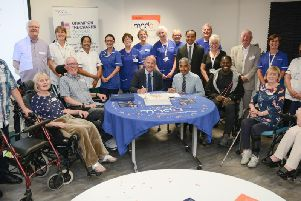 Members of Lancashire Health and Wellbeing Board met people living'with MND