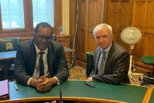 Fylde MP Mark Menzies (right) with business, energy and clean growth minister Kwasi Kwarteng